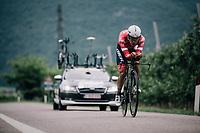 Jarlinson Pantano (COL/Trek-Segafredo)<br /> <br /> stage 16: Trento – Rovereto iTT (34.2 km)<br /> 101th Giro d'Italia 2018