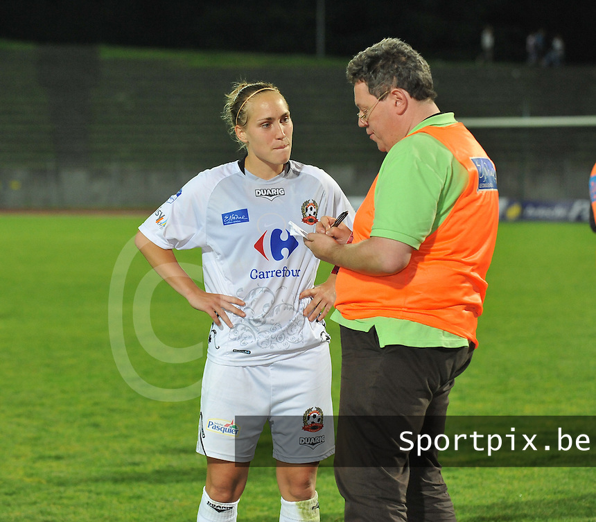 Football Club Feminin Juvisy Essonne - Olympique Lyon :.Janice Cayman en Maryan Mahieu.foto DAVID CATRY / JOKE VUYLSTEKE / Vrouwenteam.be
