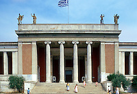 The entrance to the National Archaeological Museum in Athens.