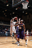 SAN ANTONIO, TX - FEBRUARY 25, 2009: The Northwetern State University Lady Demons vs. The University of Texas at San Antonio Roadrunners Women's Basketball at the UTSA Convocation Center. (Photo by Jeff Huehn)