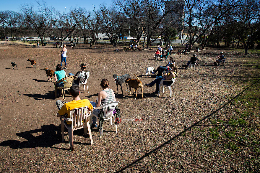 The Norwood Estate Dog Park is a popular off-leash dog park located at I-35 and Riverside in downtown Austin, Texas.