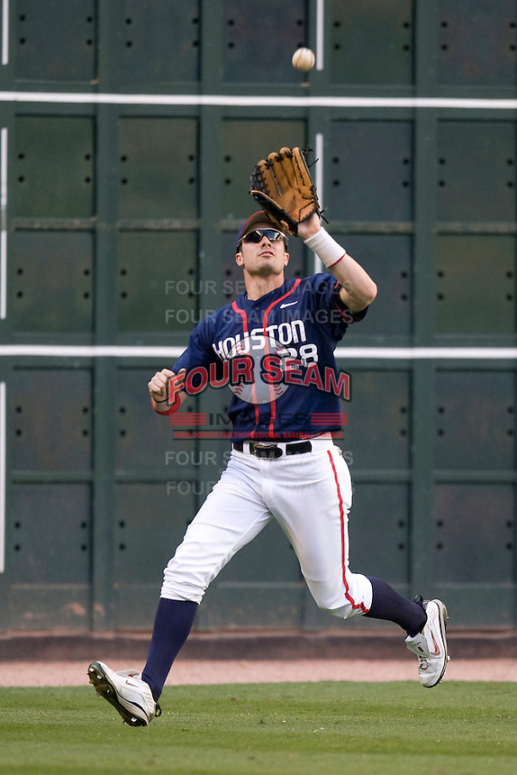 Houston Cougars Caleb Ramsey against the Texas Longhorns on Saturday March 6th, 2100 at the Astros College Classic in Houston's Minute Maid Park.  (Photo by Andrew Woolley / Four Seam Images)