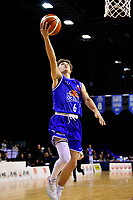 Saints&rsquo; Finn McClure in action during the NBL - Cigna Saints v Bay Hawks at TSB Bank Arena, Wellington, New Zealand on Friday 12 April 2019. <br /> Photo by Masanori Udagawa. <br /> www.photowellington.photoshelter.com