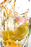 Tequila Splash with Motion and Lime
