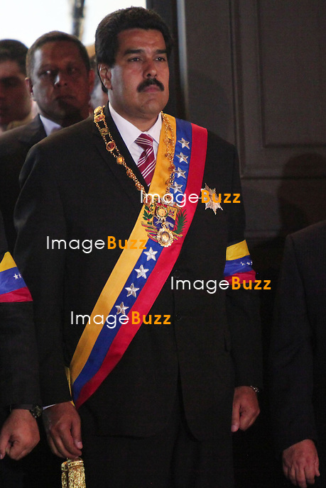 PRESIDENT NICOLAS MADURO SWEARING /March 8, 2013-Caracas, Nicolas Maduro, Venezuela's interim president, has vowed at his swearing-in ceremony at the National Assembly in Caracas to follow the example set by his late predecessor Hugo Chavez.