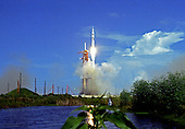 """Remote camera view of the Saturn 1B rocket, with the Skylab 2 crew of Commander Charles """"Pete"""" Conrad, Jr.; Science Pilot Joseph P. Kerwin; and Pilot Paul J. Weitz aboard, launching from Pad 39B of the John F. Kennedy Space Center in Cape Canaveral, Florida on May 25, 1973.  The mission, which is the first launched to Skylab, will last for 28 days.<br /> Credit: Arnie Sachs / CNP"""