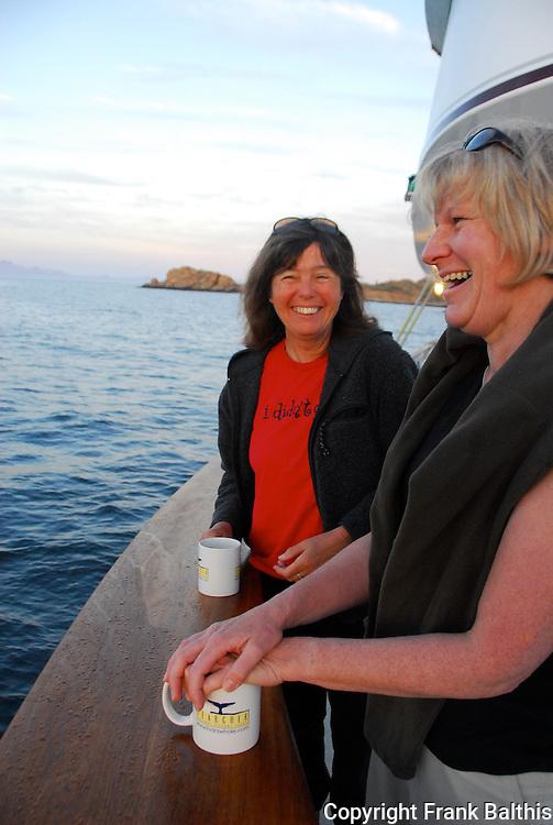 woman on the Searcher at Santa Catalina Island