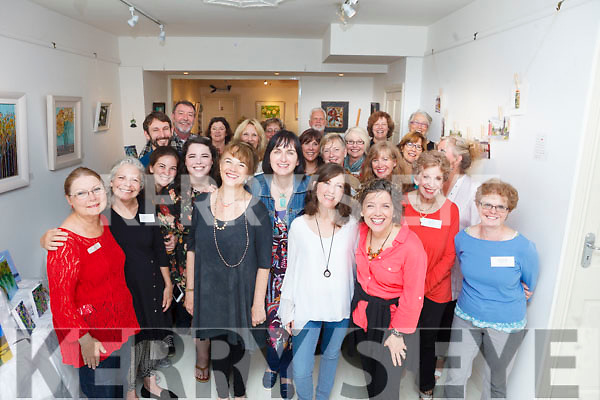 American visitors having a great time in Listowel with a visit to the Olive Stack Gallery on Thursday evening as part of the 'Artist in Residence' programme.