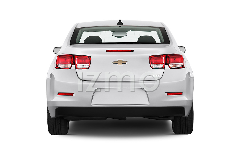 Straight rear view of a 2013 Chevrolet Malibu 1LS Sedan