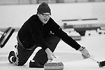 25 January 2009 -- Aksarben Curling Club. Members of the Aksarben Curling Club participate in league play at the Moylan IcePlex in Tranquility Park on Sunday night in Omaha, Neb.   PHOTO/ Daniel Johnson (Copyright 2008 Daniel Johnson)