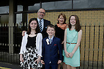 Jack Kelly, Rachel Noel Niamh and Aoife at first communion in Holy Family church.<br /> Picture www.newsfile.ie
