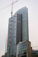 milano, cantiere per il nuovo grattacielo sede della regione lombardia --- milan, construction site of the new skyscraper headquarter of Lombardy Region authority