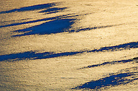 Ice pattern on Vermillion Lake at sunset<br /> Banff National Park<br /> Alberta<br /> Canada
