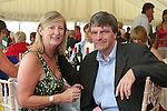 Rosalie Crinion with John McHugh at the Bellewstown Races...Photo NEWSFILE/Jenny Matthews.(Photo credit should read Jenny Matthews/NEWSFILE)....This Picture has been sent you under the condtions enclosed by:.Newsfile Ltd..The Studio,.Millmount Abbey,.Drogheda,.Co Meath..Ireland..Tel: +353(0)41-9871240.Fax: +353(0)41-9871260.GSM: +353(0)86-2500958.email: pictures@newsfile.ie.www.newsfile.ie.FTP: 193.120.102.198.