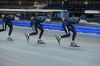 SCHAATSEN: HEERENVEEN: 17-06-2014, IJsstadion Thialf, Zomerijs training, Wouter olde Heuvel, Sven Kramer, Douwe de Vries, ©foto Martin de Jong