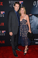 LOS ANGELES, CA. October 22, 2018: Derek Cecil &amp; Melissa Bruning at the season 6 premiere for &quot;House of Cards&quot; at the Directors Guild Theatre.<br /> Picture: Paul Smith/Featureflash