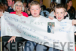 Supporting Karen Best  and Martin Ferris on Saturday night were l-r  Julie Dalton Roberts, Keelan Best and Tristan Power at the Ardfert Strictly Come Dancing at  Ballyroe Heights Hotel on Saturday