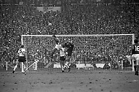 30.07.1966. Wembley Stadium, London England. 1966 World Cup final England versus Germany (4-2) After Extra time.  Keeper  Hans Tilkowski goes up with Geoff Hurst for the cross