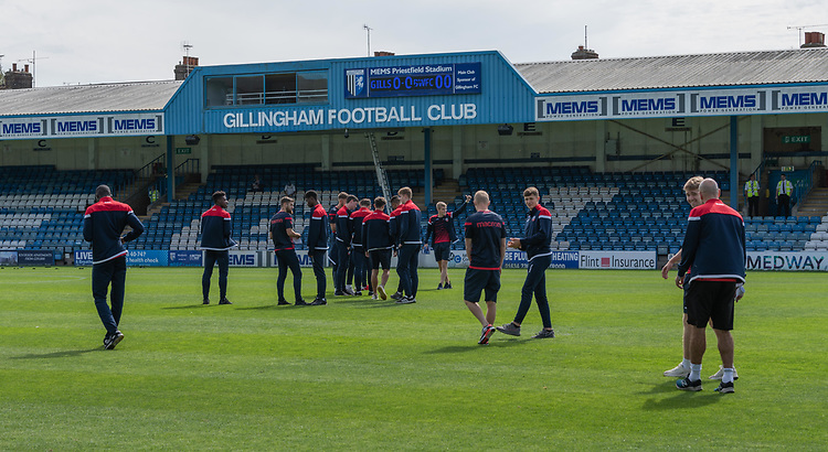 Bolton players on the pitch<br /> <br /> Photographer David Horton/CameraSport<br /> <br /> The EFL Sky Bet League One - Gillingham v Bolton Wanderers - Saturday 31st August 2019 - Priestfield Stadium - Gillingham<br /> <br /> World Copyright © 2019 CameraSport. All rights reserved. 43 Linden Ave. Countesthorpe. Leicester. England. LE8 5PG - Tel: +44 (0) 116 277 4147 - admin@camerasport.com - www.camerasport.com
