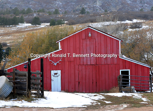 Red Barn in snow Idaho Springs Colorado, Garden of The Gods Colorado Springs Colorado, Colorado, US State of Colorado, Rocky Mountain region,  Pikes peak, Colorado Springs, Aspen, Steamboat Springs, Rocky Mountain region, Coloradans, US State of Colorado, State of Colorado, Colorado, Rocky Mountain region, Southwestern Region of USA, Denver, Coloradan, lake County,Yuma County Arikaree River, Mount Elbert, High Plains, Great plains, Pikes Peak, Colorado River, Grand Junction, Colorado, CO, CR, Colarado, Colo, Col, Fine Art Photography by Ron Bennett, Fine Art, Fine Art photography, Art Photography, Copyright RonBennettPhotography.com ©