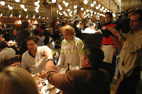 ROCCO DISPIRITO & MAMA DISPIRITO.in The Restaurant.*Editorial Use Only*.www.capitalpictures.com.sales@capitalpictures.com.Supplied by Capital Pictures.