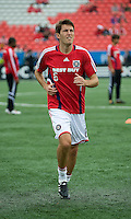 16 May 09: Chicago Fire defender Brandon Prideaux #6 warms up during action at BMO Field in a game between the Chicago Fire and Toronto FC..Chicago Fire won 2-0..