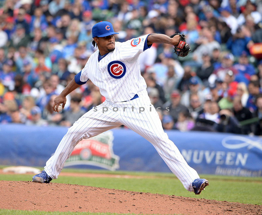 Chicago Cubs Edwin Jackson (36) during a game against the Milwaukee Brewers on May 17, 2014 at Wrigley Field in Chicago, IL. The Cubs beat the Brewers 3-0.
