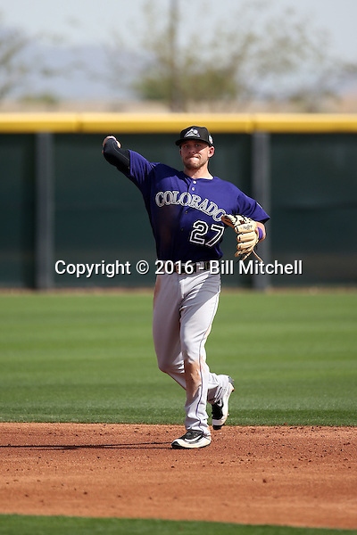 Trevor Story - Colorado Rockies 2016 spring training (Bill Mitchell)