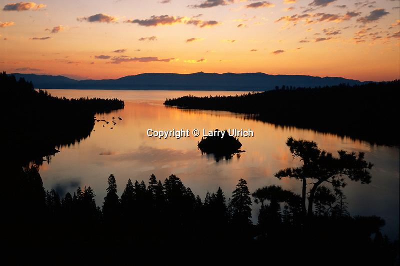 Emerald Bay at dawn<br /> Emerald Bay State Park<br /> Lake Tahoe<br /> Sierra Nevada,  California