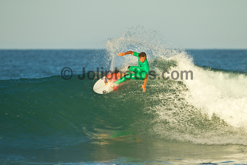 Jeffreys Bay, Eastern Cape, South Africa. Thursday July 21 2011. Julian Wilson (AUS). Freesurfing at Boneyards in 2'-4' clean south easterly swell.  Photo: joliphotos.com