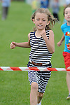 Alex Smith winning the girls under 7 race at O'Raghallaigh's fun day. Photo: Colin Bell/pressphotos.ie
