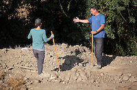 Pictured: Forensic archaeologists work at the second site in Kos, Greece. Thursday 13 October 2016<br />