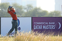 Edoardo Molinari (ITA) in action during the second round of the Commercial Bank Qatar Masters, Doha Golf Club, Doha, Qatar. 08/03/2019<br /> Picture: Golffile | Phil Inglis<br /> <br /> <br /> All photo usage must carry mandatory copyright credit (&copy; Golffile | Phil Inglis)