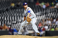 Chattanooga Lookouts pitcher Ralston Cash (46) delivers a pitch during game three of the Southern League Championship Series against the Jacksonville Suns on September 12, 2014 at Bragan Field in Jacksonville, Florida.  Jacksonville defeated Chattanooga 6-1 to sweep three games to none.  (Mike Janes/Four Seam Images)
