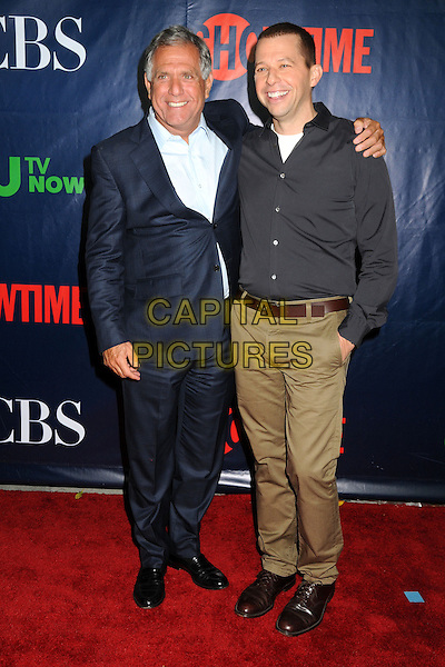 17 July 2014 - West Hollywood, California - Leslie Moonves, Jon Cryer. CBS, CW, Showtime Summer Press Tour 2014 held at The Pacific Design Center. <br /> CAP/ADM/BP<br /> &copy;Byron Purvis/AdMedia/Capital Pictures