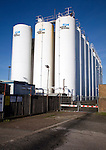 Storage tanks Baker Hughes storing drilling lubrication, Great Yarmouth, England