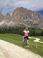 Passo Sella, in the heart of the Dolomites, Corvara in Badia, Südtirol, Italy.
