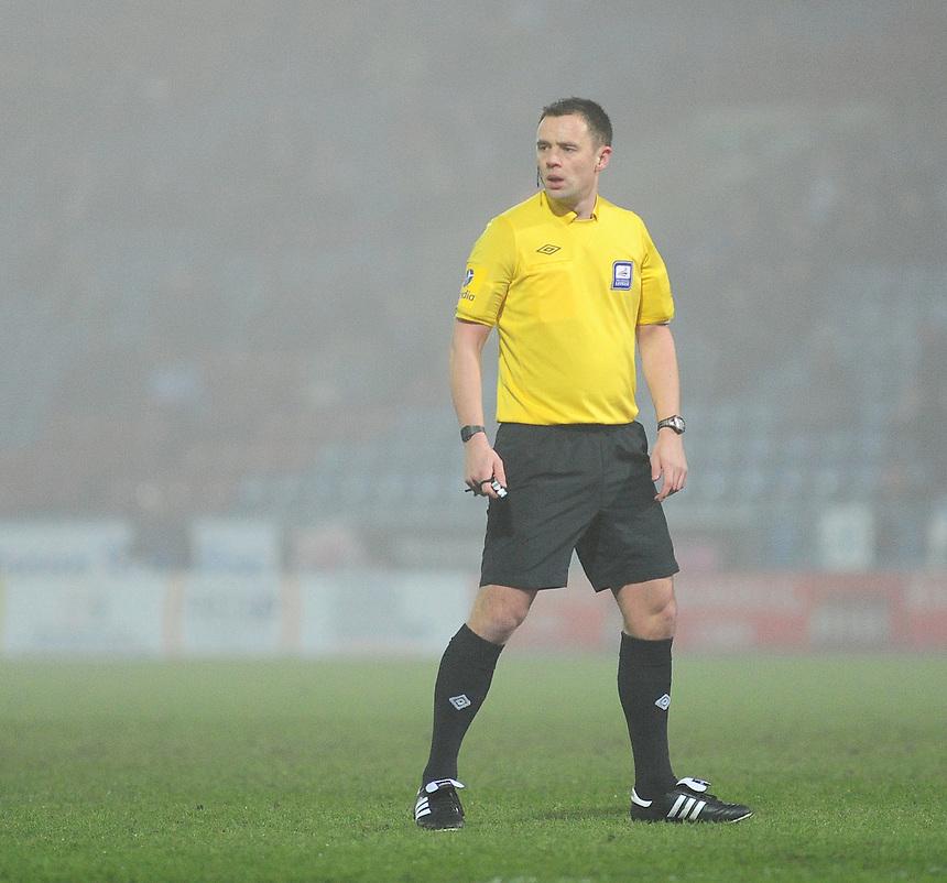 Referee Stuart Attwell ..Football - npower Football League Championship - Huddersfield Town v Middlesbrough - Tuesday 05th March 2013 - John Smith's Stadium - Huddersfield..¨© CameraSport - 43 Linden Ave. Countesthorpe. Leicester. England. LE8 5PG - Tel: +44 (0) 116 277 4147 - admin@camerasport.com - www.camerasport.com