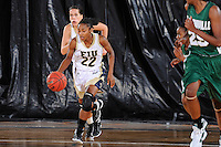 11 November 2011:  FIU's Jerica Coley (22) drives the ball up the court in the second half as the FIU Golden Panthers defeated the Jacksonville University Dolphins, 63-37, at the U.S. Century Bank Arena in Miami, Florida.