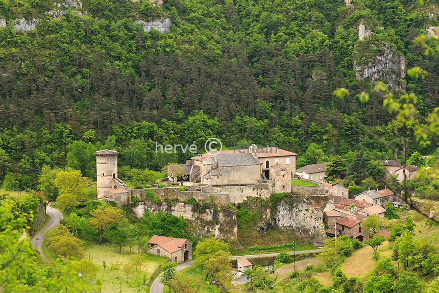France, Aveyron (12), la Roque-Sainte-Marguerite, le village // France, Aveyron, la Roque Sainte Marguerite