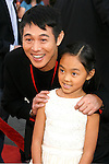 "Actor Jet Li and daughter Jane arrive at the American Premiere of ""The Mummy: Tomb Of The Dragon Emperor at the Gibson Amphitheatre on July 27, 2008 in Universal City, California."