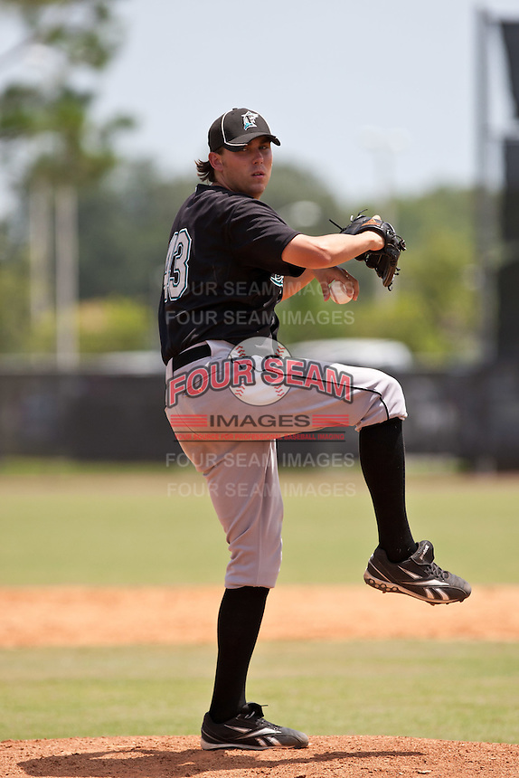 John Lambert of the Gulf Coast League Marlins at the Osceola Heritage Park in Kissimmee, Florida July 22 2010. Photo By Scott Jontes/Four Seam Images