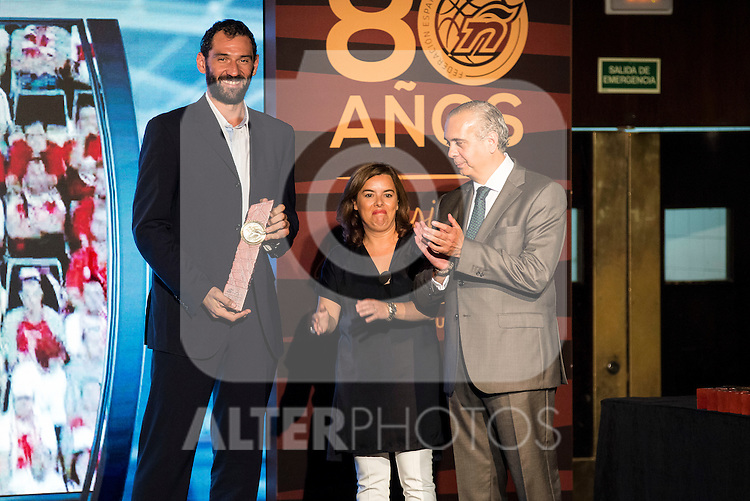 Jorge Garbajosa during the 80th Aniversary of the National Basketball Team at Melia Castilla Hotel, Spain, September 01, 2015. <br /> (ALTERPHOTOS/BorjaB.Hojas)
