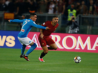Jose Callejon Aleksandar Kolarov  during the  italian serie a soccer match, AS Roma -  SSC Napoli       at  the Stadio Olimpico in Rome  Italy , 14 ottobre 2017