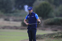 Paul Waring (ENG) on the 13th green during Round 1of the Sky Sports British Masters at Walton Heath Golf Club in Tadworth, Surrey, England on Thursday 11th Oct 2018.<br /> Picture:  Thos Caffrey | Golffile<br /> <br /> All photo usage must carry mandatory copyright credit (© Golffile | Thos Caffrey)