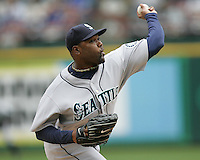Seattle Mariners P Arthur Rhodes against the Texas Rangers on May 14th, 2008 at Texas Rangers Ball Park. Photo by Andrew Woolley / Four Seam Images.