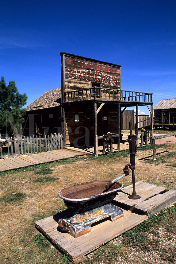 Scenic of old 1880s ghost town in Murdo South Dakota used in many movies