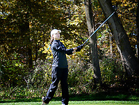 Brookfield Central's Sarah Balding tees off on No. 11 during the Wisconsin WIAA state girls high school golf tournament on Monday, 10/14/19 at University Ridge Golf Course