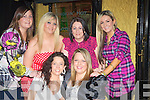 BIRTHDAY: Amanda Foley (Ardfert) who broughtn her friend to dinner in Tequilla Restaurant, Barrack Lane, Tralee on Saturday night as she reaches the good age of 27. Front L-r: Samanta Riordan and Amanda Foley.Back l-r: Bernadette Brosnan, Cait Riordan, Nicky Norman and Valerie Burke.................................................................. ........