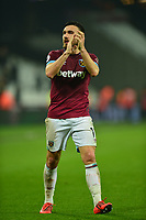 Robert Snodgrass of West Ham United At the Final Whistle Applause Fan's during West Ham United vs Fulham, Premier League Football at The London Stadium on 22nd February 2019